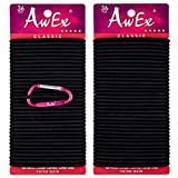 AwEx LARGE Hair Ties for Thick Hair,4 mm(0.16 Inch) Thick,170 mm(6.7 inches)Long,No Metal Hair Elastics,Big Hair Bands,Long Circumference Ponytail Holder