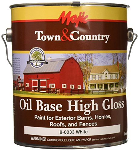 YENKIN MAJESTIC PAINT OB BHRF 8-0033-1 Oil Base Gloss BARN Home ROOF & Fence White G