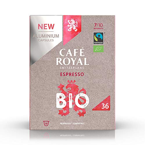 Café en capsules aluminium compatibles Nespresso saveur Espresso BIO 10 x 36 Café Royal Pro