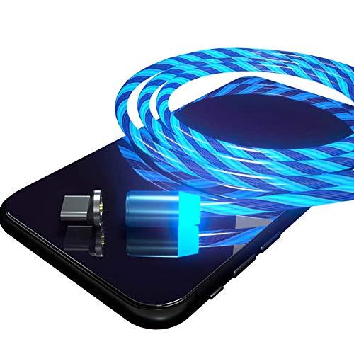 ZZYXiao - Cable de carga magnética para teléfono móvil, 1 m, para iPhone C, IOS/Micro USB (para Apple)