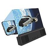 Rehomy Lupa de Pantalla con Altavoz BT Amplificador de Pantalla de Teléfono Portátil HD Amplificador de Pantalla para Teléfonos Inteligentes de hasta 6 Pulgadas 12 Pulgadas (Bluetooth)