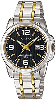 Casio Enticer Ladies Black Dial Two Tone Stainless Steel Band Watch [Ltp-1314Sg-1Avdf], Analog Display