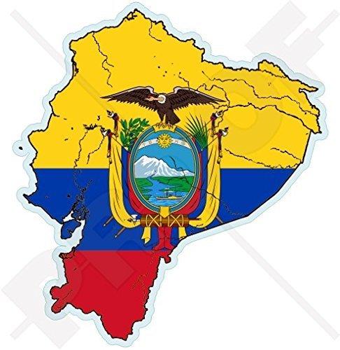 ECUADOR Ecuadorianische Karte Flagge, Südamerika 109mm Auto & Motorrad Aufkleber, Vinyl Sticker