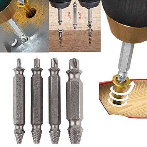 4pcs/set de doble cara dañada tornillo extractor brocas Out Remover herramienta de tornillo stud precio al por mayor
