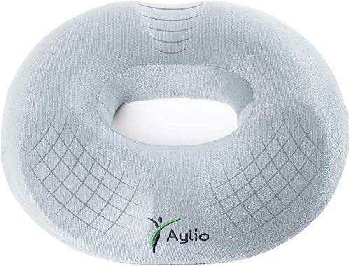 Aylio Firm Donut Pillow Seat Cushion for Hemorrhoids, Prostate Relief, Pregnancy Pain, Pressure Sores
