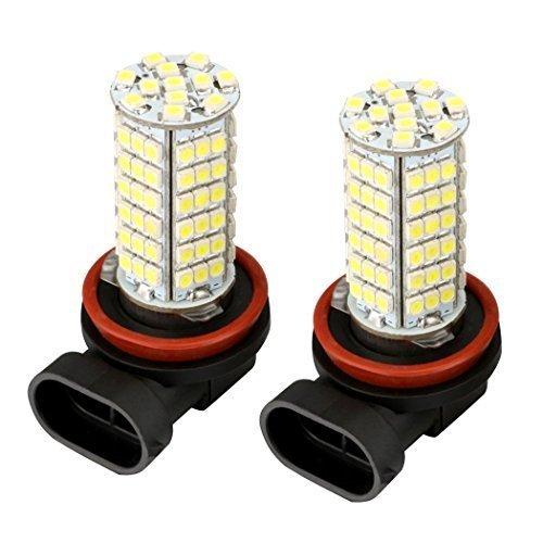 2 pcs H8 3528 de brouillard lampe de lumière de sécurité 350LM 102 LED SMD Blanc Voiture