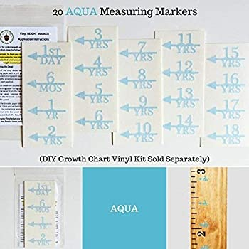 ADD ON - DIY Vinyl Growth Chart Ruler - Height Marker Arrows ONLY