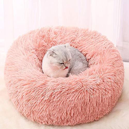 Kattenbak hondenmand huisdier bed ronde vier seizoenen universele verwijderbare ademende pluche warme en comfortabele duurzame dierbenodigdheden 100cm