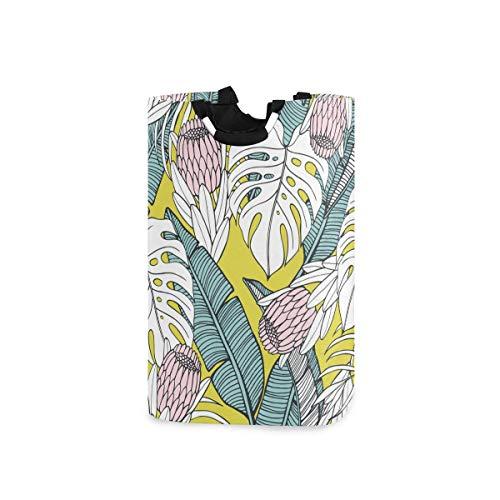 N\A Exotic Protea Printing Canasta de Almacenamiento Grande para lavandería con Asas y ndash; Cesta de lavandería Toallas de Juguete Cesta de Manta Decoración del hogar Regalo