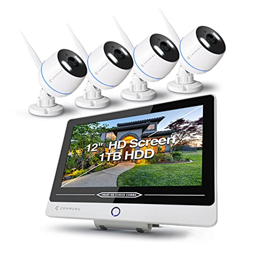 Cromroc All-in-one Wireless Security Camera System with 12