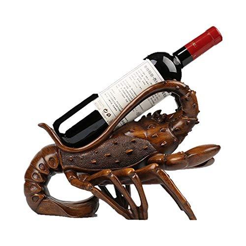 YOLANDE Vino Titular Soporte de la Botella de Vino de Langosta Bastidor Premium Resina Material de la Novedad del Regalo de la Cocina Inicio de decoración de Interior