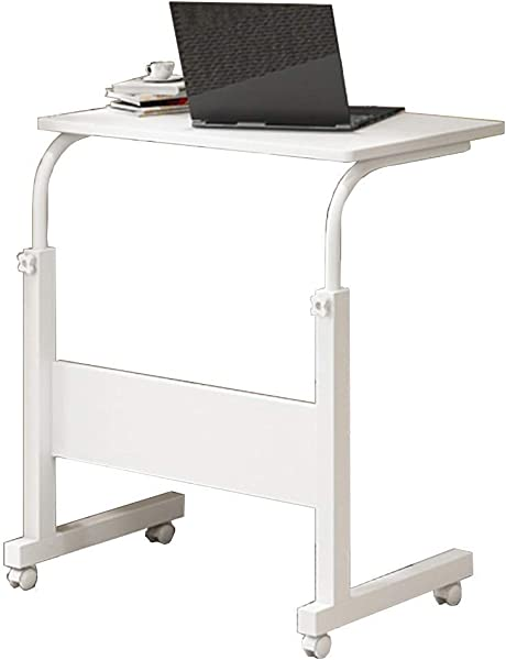 HDL JL Folding Table Laptop Stand Adjustable 60 40cm Computer Standing Desk W Wheels Portable Side Table For Bed Sofa A Color B