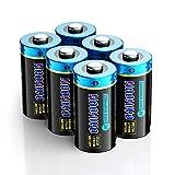 HAOHIYO 6-Pack CR123A 3V Lithium Battery Single Use Batteries for Arlo Cameras, Flashlight, Smoke Detector, Door Sensor, Microphones