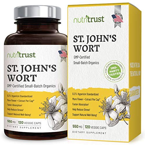 100% 30-DAY MONEY-BACK NUTRITRUST GUARANTEE: Yes, it's a fact. Our clinically tested non-GMO vegan veggie St. John's Wort capsules are proven to boost your mood by promoting nervous system health and neuro-chemical balance or your money back. Please ...