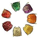 Bolsa de joyería de alta calidad con brocado de seda de doble capa, monedero de regalo, bolsas de la suerte, es un regalo divertido para tu familia y tus amigos (7 piezas).