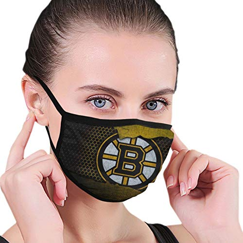 Fremont Die Boston Bruins Face Cover Reusable Mouth Washable Cover Dustproof Mouth Breathable Guard Windproof Suitable for Sports Motorcycle for Adults & Kids