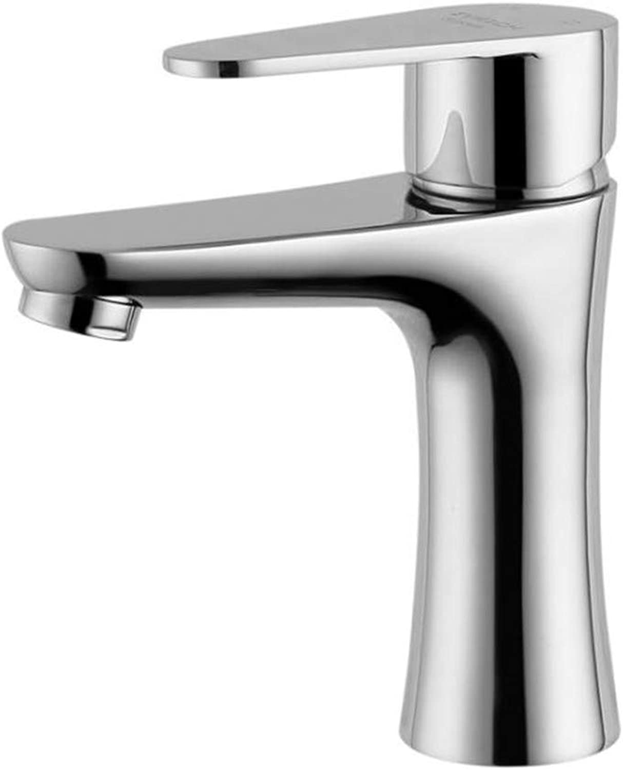 Bathroom Sink Basin Lever Mixer Tap 304 Stainless Steel Mirror Short Type Cold and Hot Pot Dragon Single Hand
