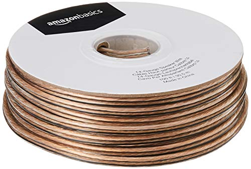 AmazonBasics - Cable para altavoces (calibre 14, 30,5 m, 2,08 mm²)