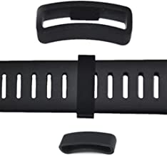 Chimei Replacement for Suunto Core Watch Band Strap Loop Rubber Fastener Sillicon Black Keeper Ring Holder 2pcs