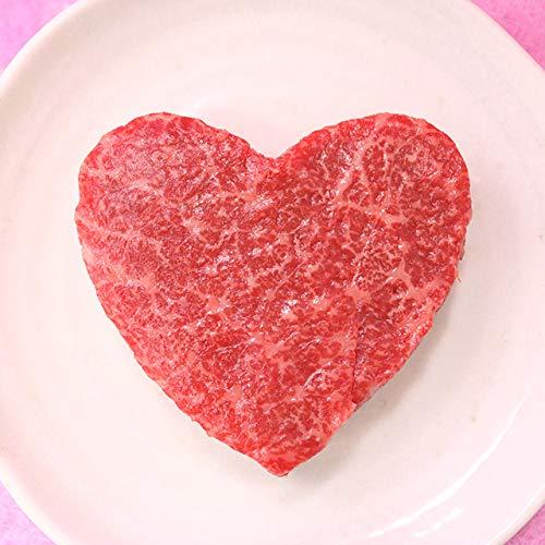 [肉贈] 飛騨牛 かわいい ハート型 赤身 モモ ステーキ 100g × 4枚 A5 A4(2?4名様用)母の日