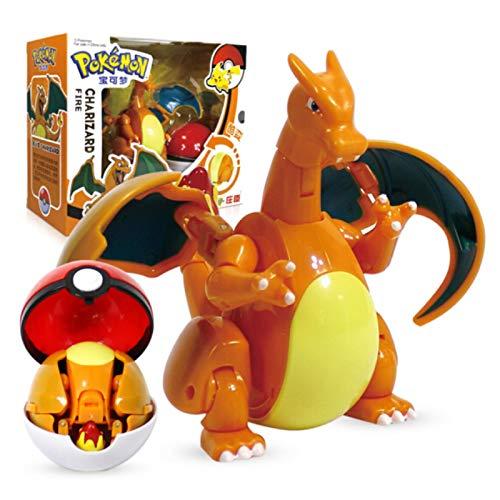 Figura De Pokemon Elf Ball Variante Modelo De Juguete Charizard 11X16Cm, Figura De Acción De Juguete De Pokemon Modelo De Regalo