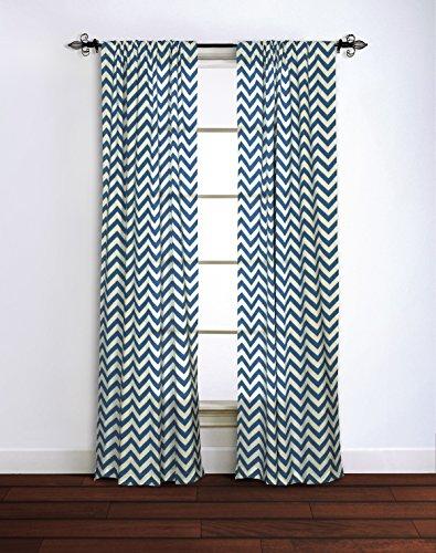 "Rizzy Home G00304 Window Panel, 42""X95"", Light Blue"