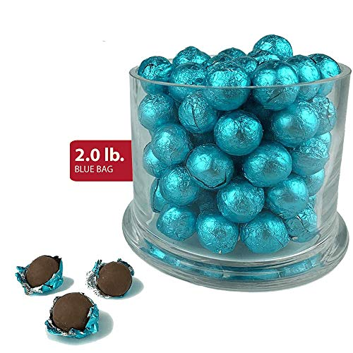 Caribbean Blue Foiled Wrapped Premium Chocolate Balls