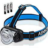 LED Headlamp Flashlight with Red Lights for Running, Camping, Reading,...