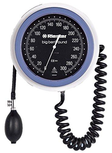 Riester 1459-100 big ben Blutdruckmessgerät mit Wandhalterung und ohne Zubehör, WAND MODELL, Manometer, allein, rund