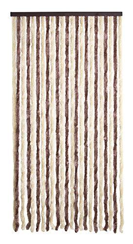 VERDELOOK Tenda Ciniglia da Sole 100x220 cm, Beige e Marrone, Fili: 24