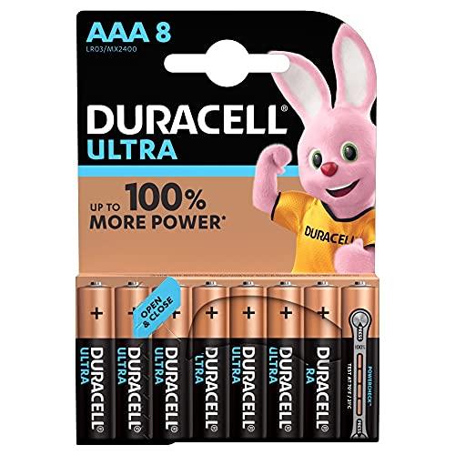 Duracell Ultra AAA Batterie, Confezione da 8