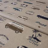 Hans-Textil-Shop Stoff Meterware VW Bus Bully California -
