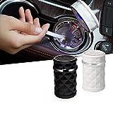 TTZY Accessoires de Voiture cendrier Diamant Face pour Ford Focus 2 3 mk2 Mazda 2 3 5 6 cx-5 cx-7 Volvo xc60 s60 v40 xc70 s80 s40 xc90, Blanc