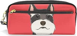 Mydaily Schnauzer Dog Pencil Case Pen Bag Pouch Coin Purse Cosmetic Makeup Bag