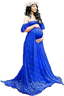SICILY Women's Lace Off-Shoulder Long Maternity Dress Plus Photography