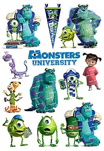YACHAO Grande F0064-01 Monster University Company Cartoon Movie Book Computer Valigia Sticker