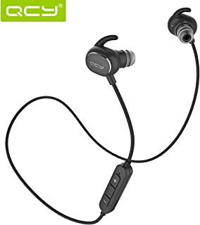 QCY Wireless Bluetooth Earbuds, Bluetooth Earphones for Sport, in-Ear Earbuds with IPX4 Sweatproof (APTX-HD, CVC 6.0, Noise Cancellation, 6 Hours Playtime)
