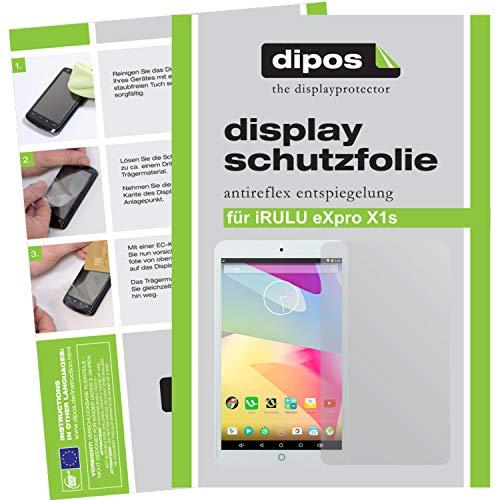 dipos I 2X Schutzfolie matt kompatibel mit iRULU iRULU eXpro X1s Folie Bildschirmschutzfolie
