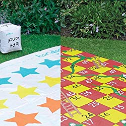 This outdoor game set is perfect for social gatherings with friends and family or at events and celebrations such as birthdays and weddings. This merry bundle includes a 150cm square double sided playing mat, four plastic corner securing pegs, 2 blow...