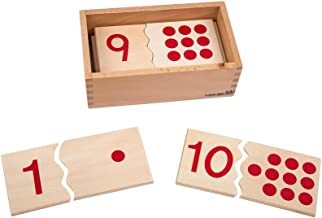 Leader Joy Montessori USA Montessori Math Materials Number Puzzle 1-10 for Preschool Early Learning Tool
