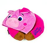 HoodiePillow Pals Snuggly Travel Neck Pillow for Kids - Pink Pig
