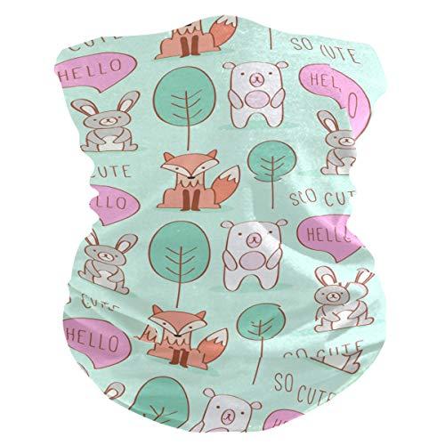 Stoff-Gesichtsmaske für Damen, multifunktional, Bandanas, Schnittmuster, unisex, süßes Schwein und Fuchs, Stoff-Maske, bedruckbar, für Herren und Damen, Outdoor, Kopfbedeckung, Kopftuch, waschbar