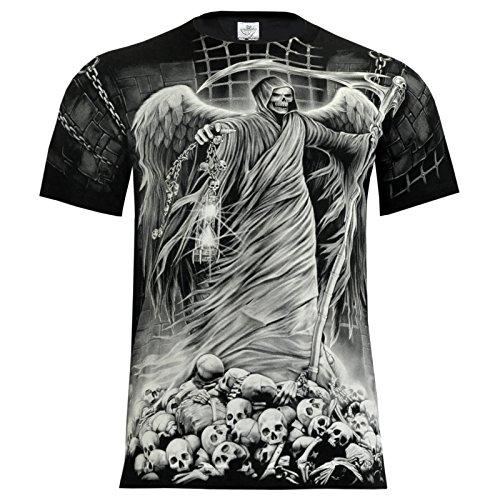 T-Shirt Rock Chang Rock Eagle Heavy Metal Biker Tattoo Rocker Gothic (4004) (M)