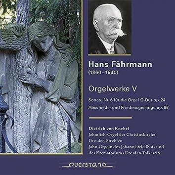 Hans Fährmann (Orgelwerke V)
