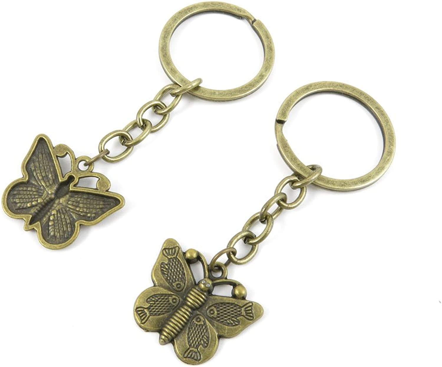 180 Pieces Fashion Jewelry Keyring Keychain Door Car Key Tag Ring Chain Supplier Supply Wholesale Bulk Lots O0BQ1 Fish Butterfly