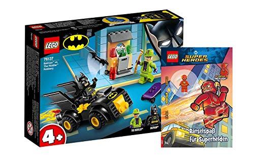 Collectix Lego DC Comics Super Heroes - Set: 76137 Batman vs der Raub des Riddler + Rätselspaß für Superhelden mit Minifigur The Flash (Softcover)