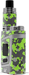Skin Decal Wraps for Smok AL85 Alien Baby WraptorCamo Old School Camouflage Camo Lime Green Vape NOT Included