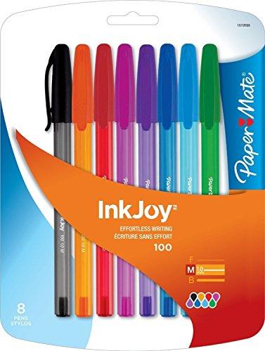 Paper Mate InkJoy 100ST Ballpoint Pen, Medium Point, Business Colors, 8 Count with BONUS Paper Mate InkJoy 100ST Ballpoint Pen, Medium, Fashion Colors, 8-Count Exclusive Bundle - 2 pieces Photo #5