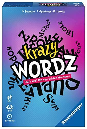 Ravensburger 26837 Krazy Wordz - Gesellschaftsspiel für die ganze Familie, Spiel für Erwachsene und Kinder ab 10 Jahren, Partyspiel für 3-8 Spieler - mit 240 Spielkarten