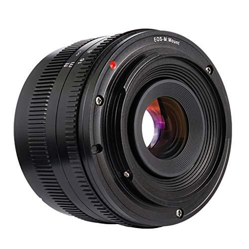 Gazechimp Lente Ultra Gran Angular F1.8 de 50 mm para Cámara para Canon EF-M Adecuado para Paisajes, Arquitectura, Viajes